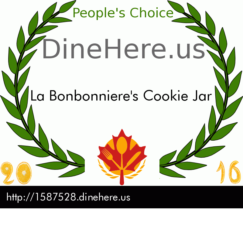 La Bonbonniere's Cookie Jar DineHere.us 2016 Award Winner
